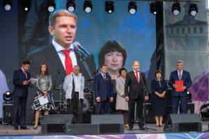 Михаил Романов поздравил жителей города Колпино с 296-ой годовщиной со дня основания